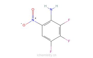 CAS:148416-38-0_2,3,4-三氟-6-硝基苯胺的分子结构