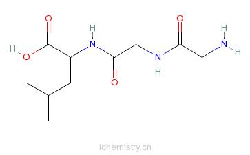 CAS:14857-82-0_甘氨酰-甘氨酰-L-亮氨酸的分子结构