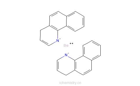 CAS:148896-39-3_双(10-羟基苯并[h]喹啉)铍的分子结构