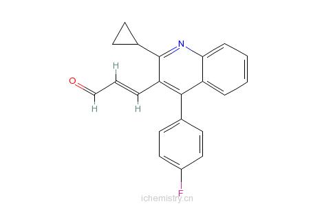 CAS:148901-68-2_(E)-3-[2-环丙基-4-(4-氟苯基)-3-喹啉-2-丙烯醛的分子结构