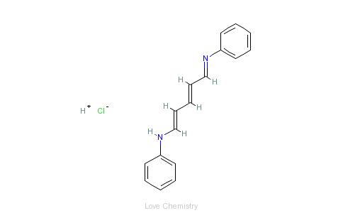 CAS:1497-49-0_戊二烯醛缩二苯胺盐酸盐的分子结构