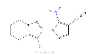 CAS:149978-57-4_5-氨基-1-(3-氯-4,5,6,7-四氢吡唑并[1,5-A]吡啶-2-基)-1H-吡唑-4-甲腈的分子结构