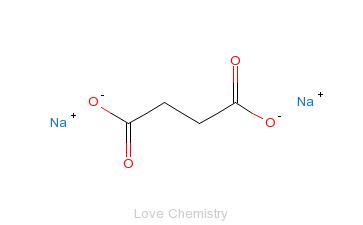 CAS:150-90-3_丁二酸二钠的分子结构