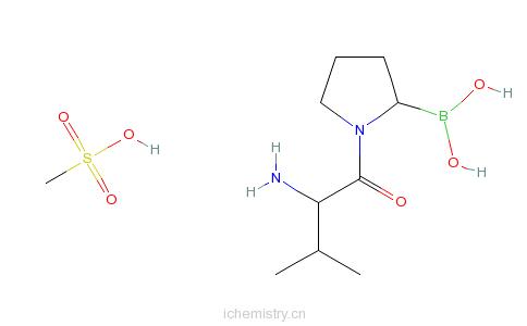 CAS:150080-09-4_Talabostat甲磺酸盐的分子结构