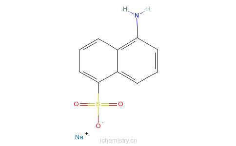 CAS:15092-40-7_5-氨基-1-萘磺酸单钠盐的分子结构