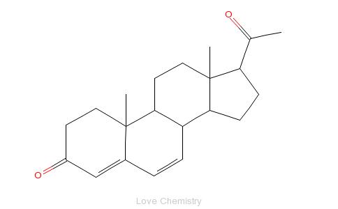 CAS:152-62-5_去氢孕酮的分子结构