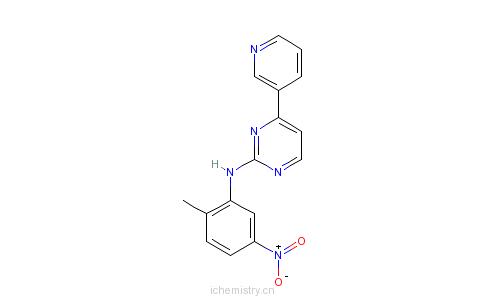 CAS:152460-09-8_N-(2-甲基-5-硝基苯基)-4-(3-吡啶基)-2-嘧啶胺的分子结构