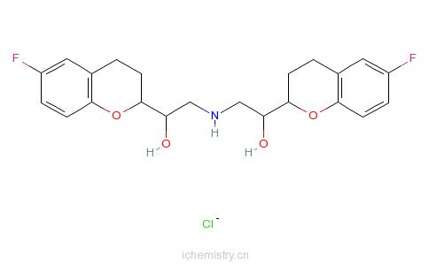 CAS:152520-56-4_盐酸奈必洛尔的分子结构