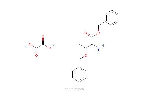 CAS:15260-11-4_O-苄基-L-苏氨酸苄酯草酸盐的分子结构