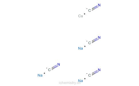 CAS:15281-91-1_四氰基铜酸钠的分子结构