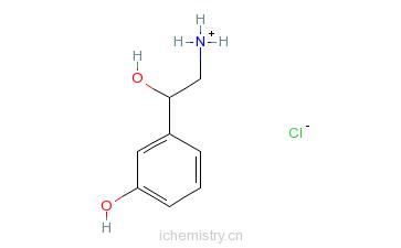 CAS:15308-34-6_盐酸去甲苯福林的分子结构