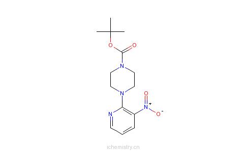 CAS:153473-24-6_1-Boc-4-(3-硝基吡啶-2-基)哌嗪的分子结构