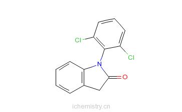 CAS:15362-40-0_1-(2,6-二氯苯基)-1,3-二氢-2H-吲哚-2-酮的分子结构