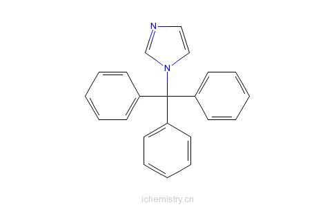 CAS:15469-97-3_N-三苯甲基咪唑的分子结构