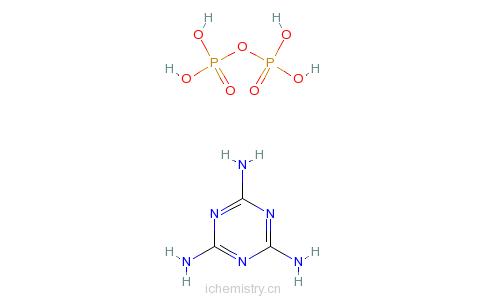 CAS:15541-60-3_焦磷酸与1,3,5-三嗪-2,4,6-三胺的化合物的分子结构