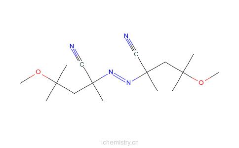 CAS:15545-97-8_偶氮二甲氧基异庚腈的分子结构