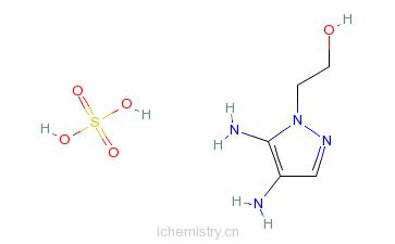 CAS:155601-30-2_4,5-二氨基-1-(2-羟乙基)吡唑硫酸盐的分子结构