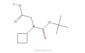 CAS:155905-78-5_Boc-D-环丁基甘氨酸的分子结构