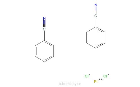 CAS:15617-19-3_二苯腈合二氯化铂的分子结构
