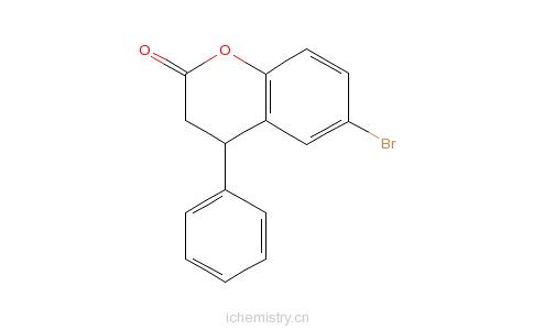 CAS:156755-23-6_6-溴-3,4-二氢-4-苯基-2H-1-苯并吡喃-2-酮的分子结构