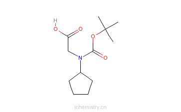 CAS:156881-63-9_Boc-D-环戊基甘氨酸的分子结构