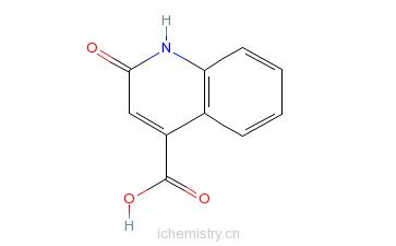 CAS:15733-89-8_2-羟基喹啉-4-羧酸的分子结构