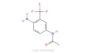 CAS:1579-89-1_5-乙酰氨基-2-氨基三氟甲苯的分子结构