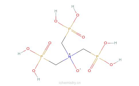 CAS:15834-10-3_次氨基三亚甲基三磷酸-N-氧化物的分子结构