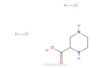 CAS:158663-69-5_(S)-哌嗪-2-羧酸二盐酸盐的分子结构