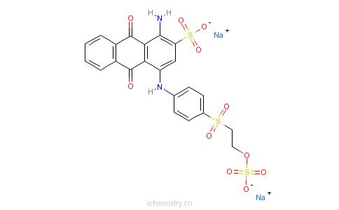 CAS:16102-99-1_1-氨基-9,10-二氢-9,10-D二氧-4-[[4-[[2-(硫氧)乙基]磺酰基]苯基]氨基]-2-蒽磺酸二钠的分子结构