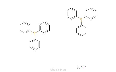 CAS:16109-82-3_碘代双(三苯膦)一铜的分子结构