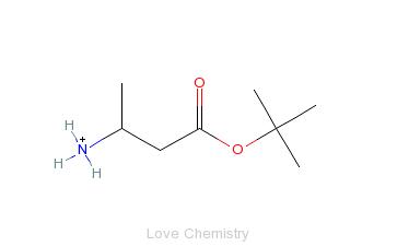CAS:161105-54-0_(3S)-3-氨基丁酸叔丁酯的分子结构