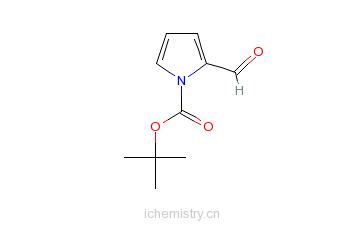 CAS:161282-57-1_2-醛基吡咯-1-甲酸叔丁酯的分子结构