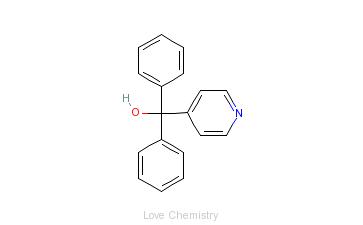 CAS:1620-30-0_二苯基(4-吡啶基)甲醇的分子结构