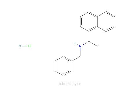 CAS:163831-66-1_(S)-N-苯甲基-1-(1-萘基)乙基胺盐酸盐的分子结构