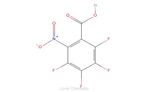 CAS:16583-08-7_2,3,4,5-四氟-6-硝基苯甲酸的分子结构