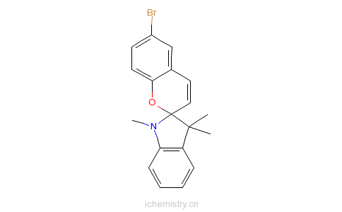 CAS:16650-14-9_1,3,3-三甲基吲哚-6-溴代苯并二氢呋喃的分子结构