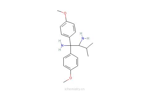 CAS:166764-19-8_(2R)-(-)-1,1-双(4-甲氧基苯基)-3-甲基-1,2-丁二胺的分子结构