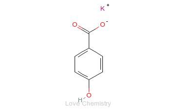CAS:16782-08-4_四羟基苯甲酸一钾的分子结构