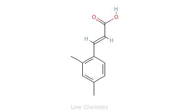 CAS:1685-80-9_2,4-二甲基肉桂酸的分子结构