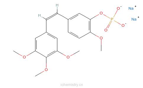 CAS:168555-66-6_考布他丁A-4磷酸二钠盐的分子结构