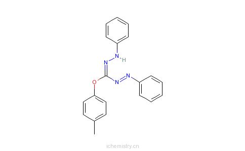 CAS:16929-09-2_1,5-二苯基-3-(4-甲氧基苯基)甲暨的分子结构