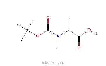 CAS:16948-16-6_BOC-N-甲基-L-丙氨酸的分子结构