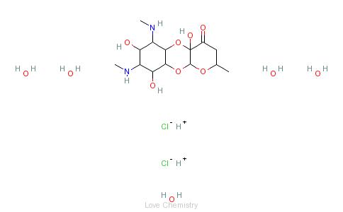 CAS:1695-77-8_大观霉素的分子结构