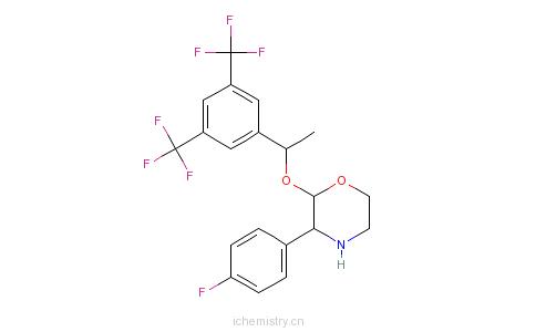 CAS:170729-79-0_[2R-[2aR*),3a]-2-[1-[3,5-双(三氟甲基)苯基]乙氧基]-3-(4-氟苯基)吗啉的分子结构
