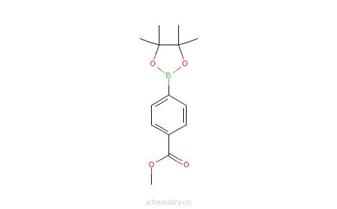 CAS:171364-80-0_4-甲氧甲酰苯硼酸频哪醇酯的分子结构