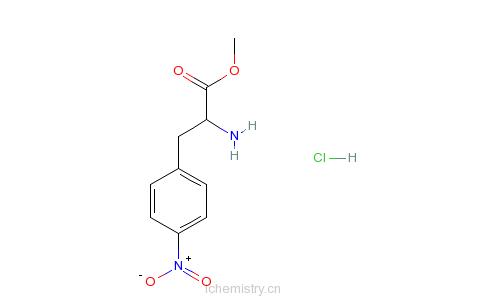 CAS:17193-40-7_(S)-4-硝基苯基丙氨酸甲酯盐酸盐的分子结构
