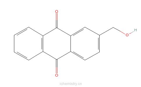CAS:17241-59-7_2-羟甲基蒽醌的分子结构