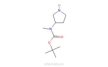 CAS:172478-00-1_3-N-Boc-N-甲基氨基吡咯烷的分子结构