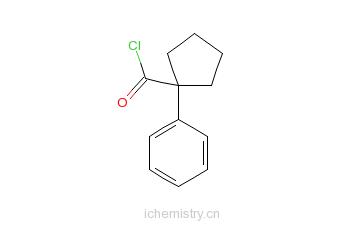 CAS:17380-62-0_1-苯基环戊烷甲酰氯的分子结构